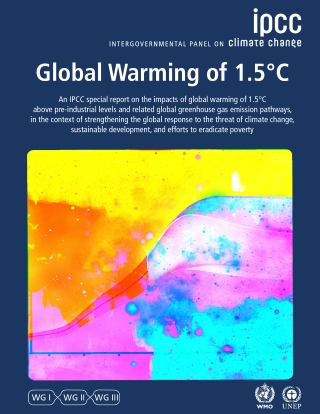 IPCC Special Report 1.5 degrees cover